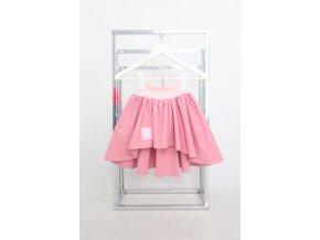 Pískacia extra riasená sukňa ružová/wedding ružová