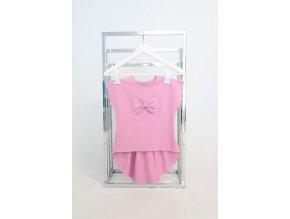 Pískacie tričko s KR riasené - staroružová
