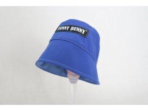 Pískací klobúk modrá