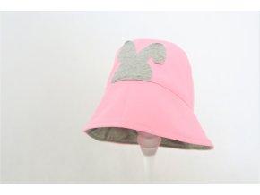 Pískací klobúčik zajko -  baby ružová