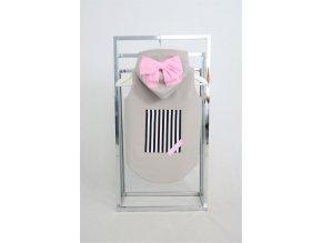 Zateplená softshellová vesta sv.sivá/baby ružová