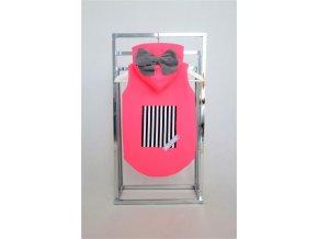 Zateplená softshellová vesta neón ružová/sivá