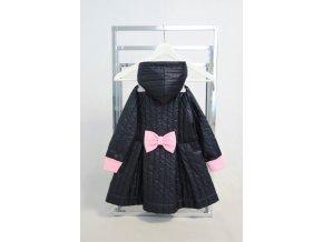 Prechodný šušťákový skladaný kabátik tm.modrá/baby ružová