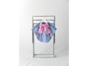 Sukňa s vlečkou pásik modrá/ružová