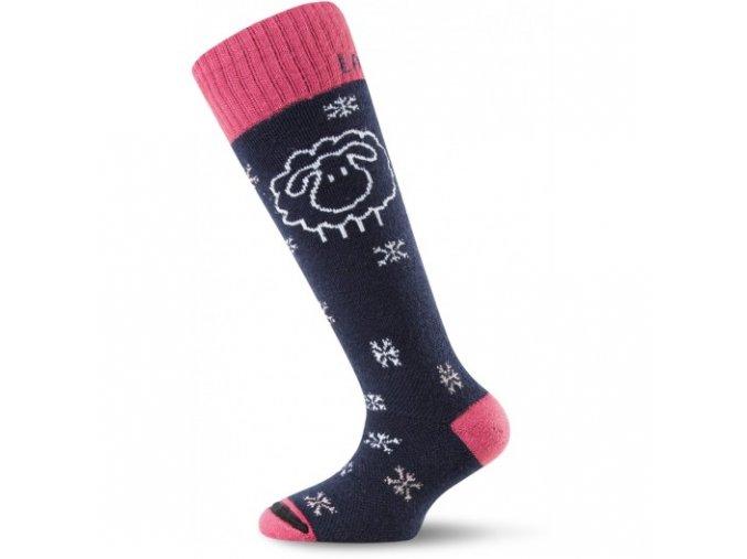 Černo-růžové dětské ponožky SJW
