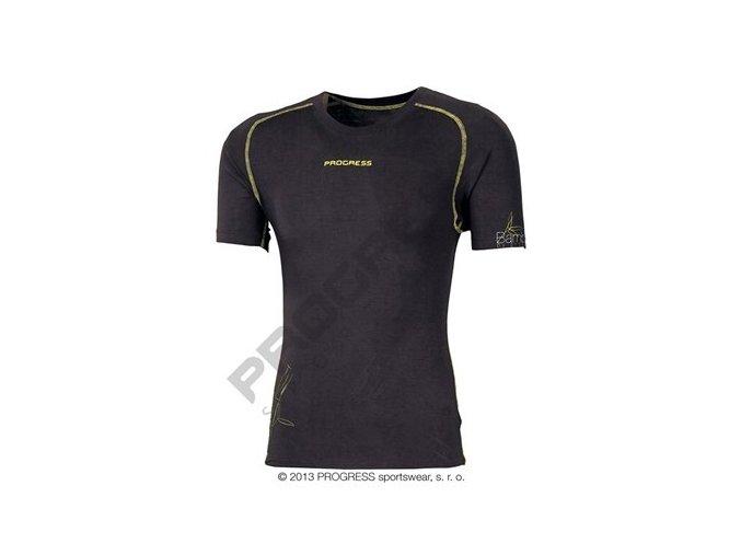 Pánské termo tričko krátký rukáv bambus E NKR