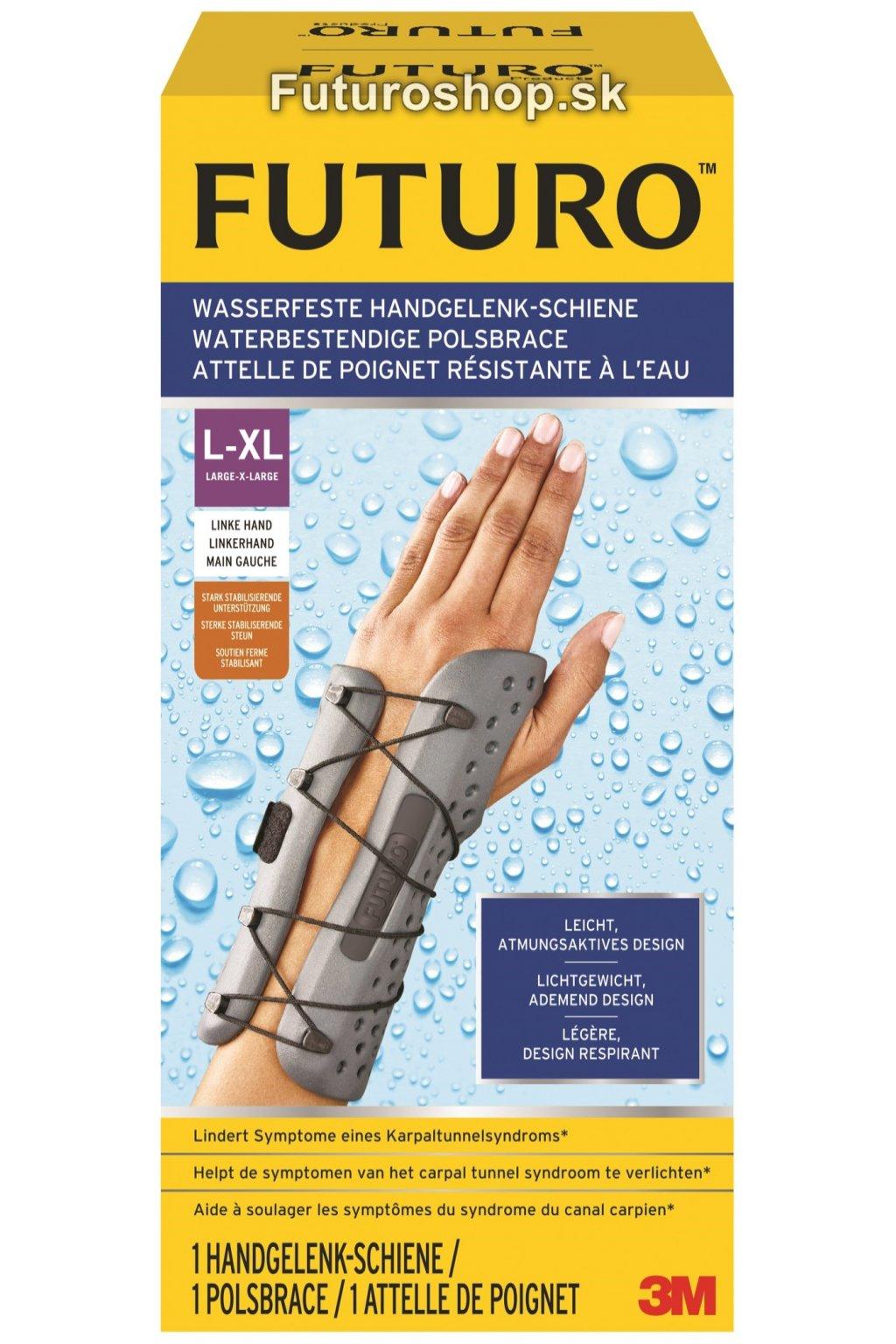 3M FUTURO vodeodolná zápästná bandáž 58503, ľavá ruka, veľkosť L-XL