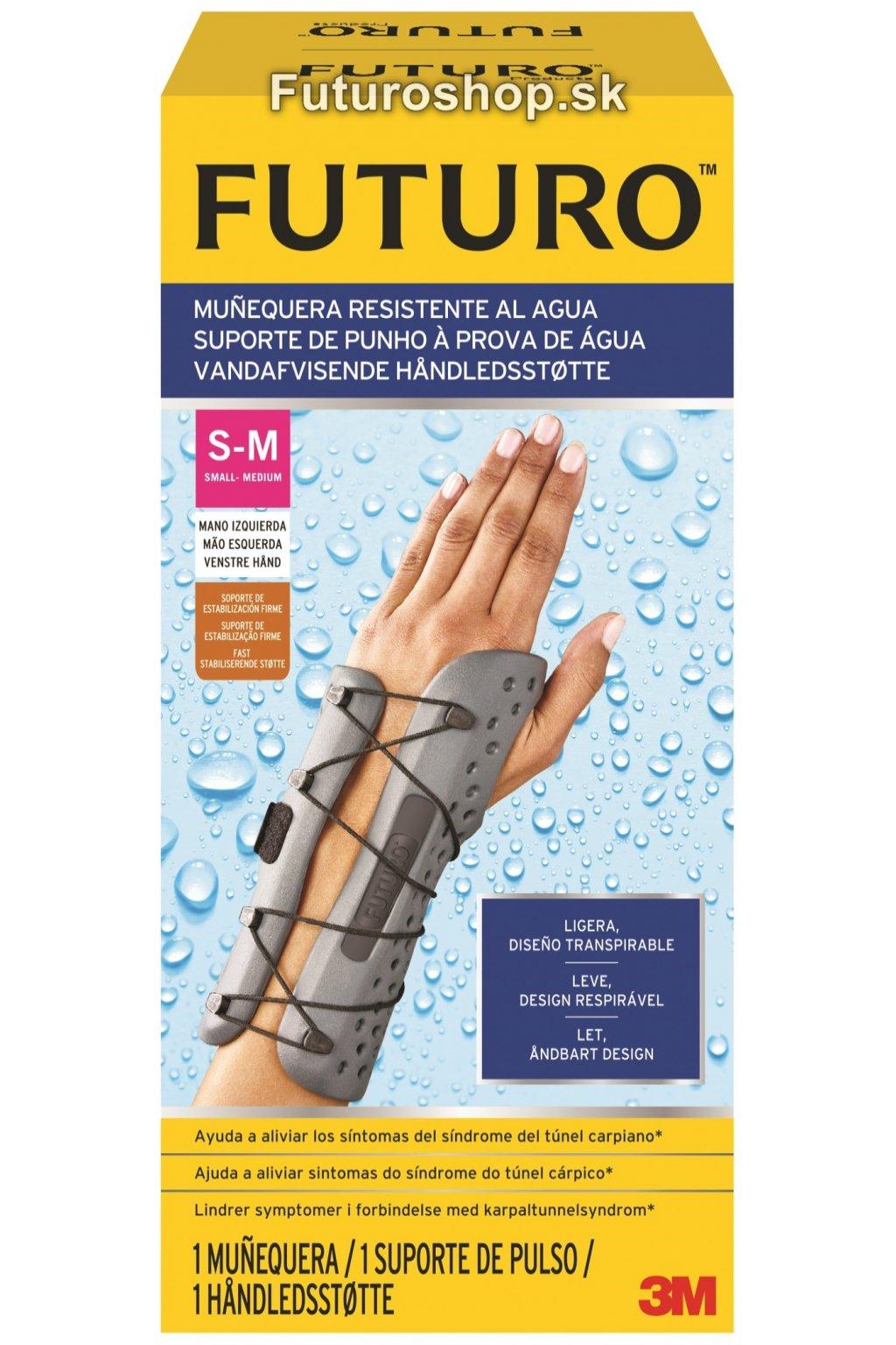 3M FUTURO vodeodolná zápästná bandáž 58501, ľavá ruka, veľkosť S-M