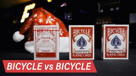 Srovnání Bicycle karet (Second, Rider Back, Standard, Supreme Line)