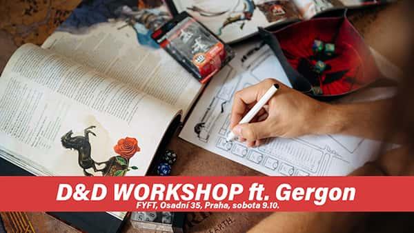 RPG WORKSHOP - pro začátečníky s vypravěčem GERGONEM 9.10 FYFT PRAHA