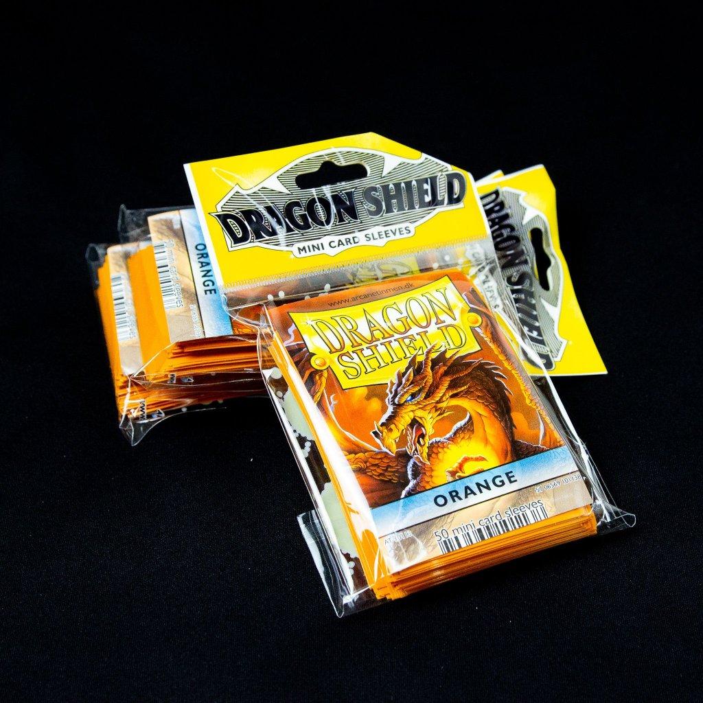 Obaly na karty Dragon Shield SMALL - Orange (50 ks)