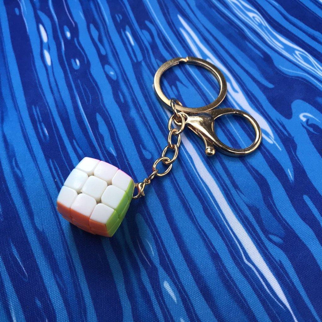 Mini Rubikova kostka - 2cm přívěšek na klíče