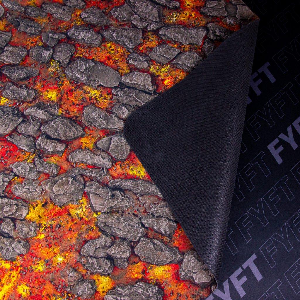 Herní podložka - Playmat: Magma River 122 x 122 cm (Kraken Wargames)
