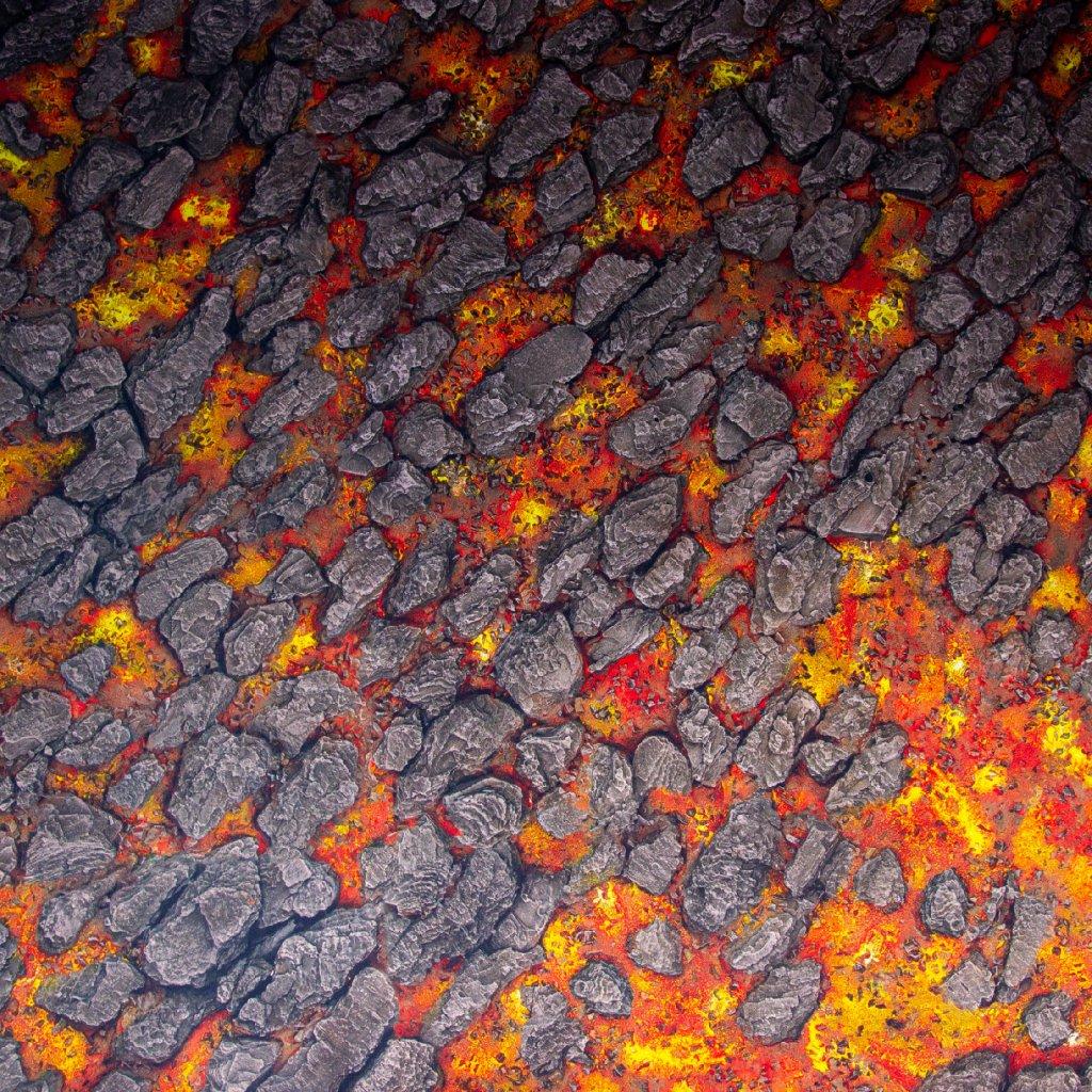 Herní podložka - Playmat: Magma River 183 x 91,5 cm (Kraken Wargames)