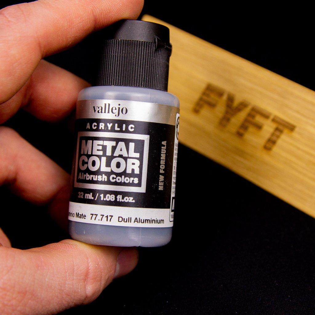 Vallejo Metal Color 77.717 Dull Aluminium 32ml