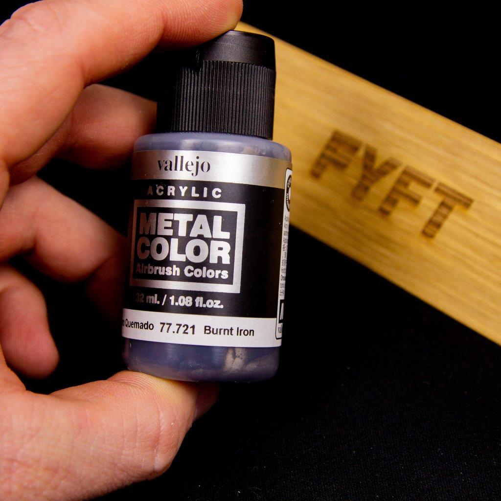 Vallejo Metal Color 77.721 Burnt Iron 32ml