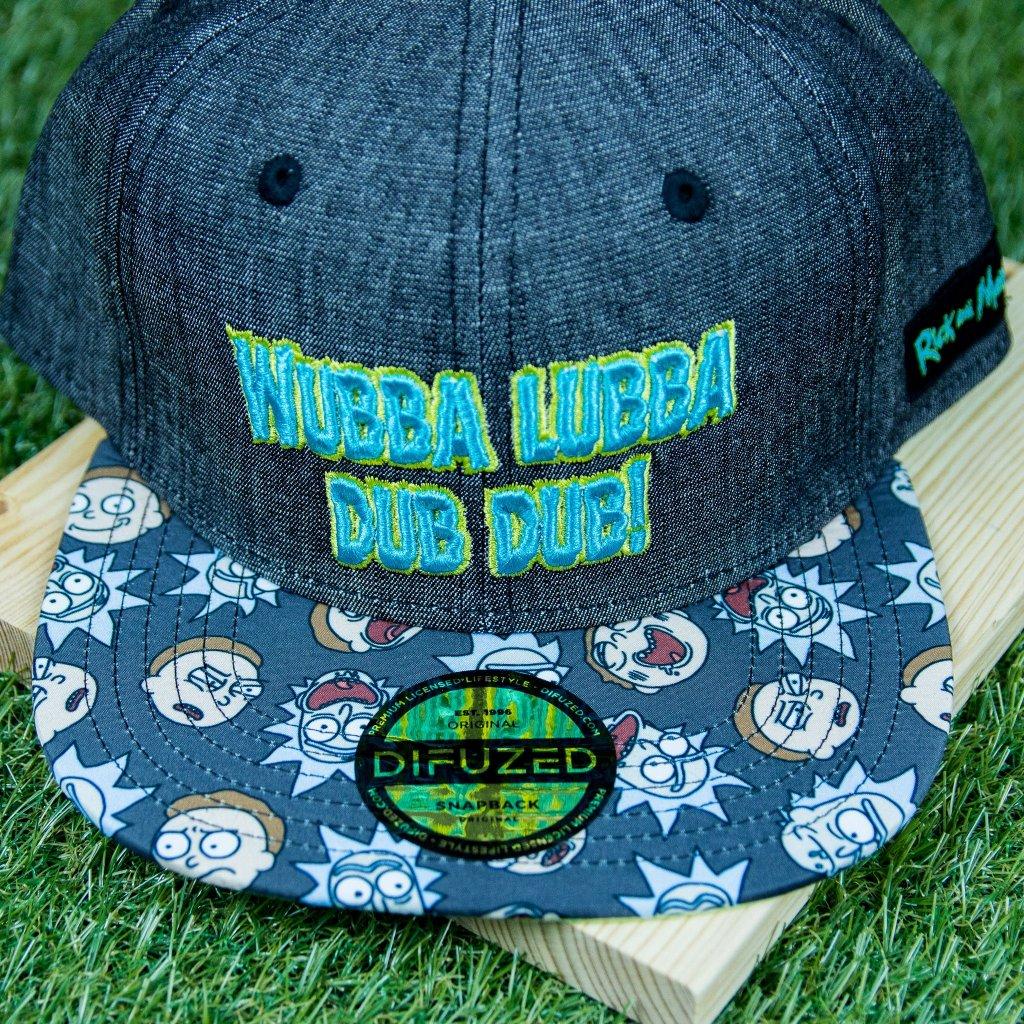 Rick and Morty snapback - kšiltovka: Wubba Lubba (Difuzed)