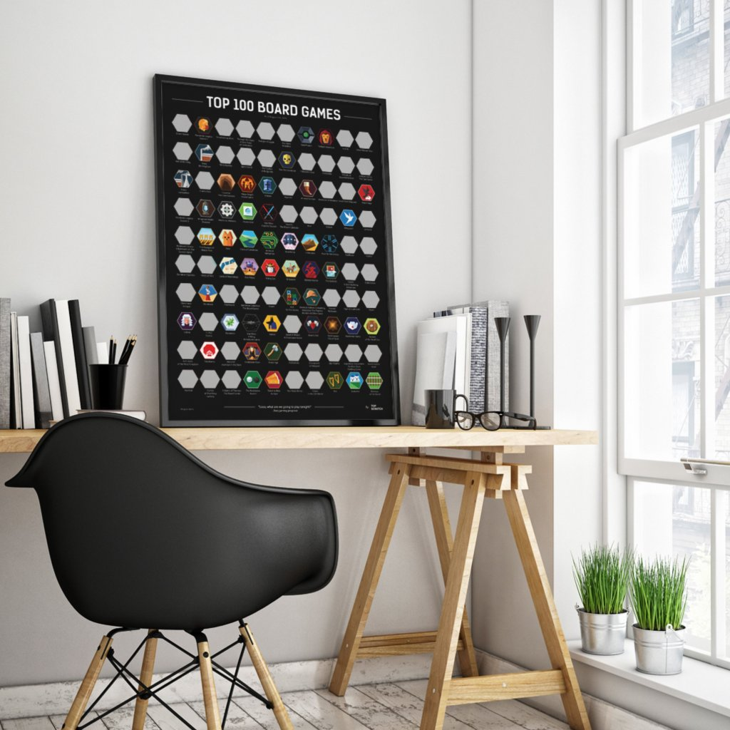 Top 100 Board Games - plakát (TopScratch)