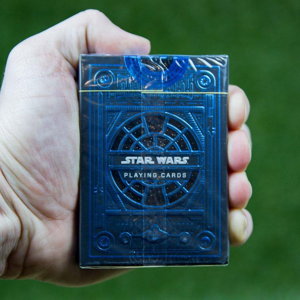 Star Wars karty - The Light Side (modrá)  Theory11