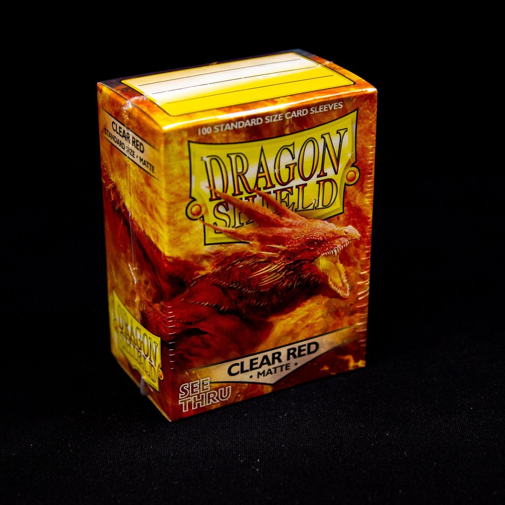 Obaly na karty Dragon Shield - Clear Red matte (100 ks)