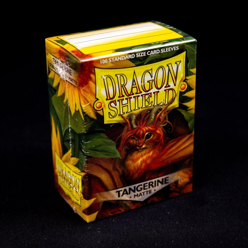 Obaly na karty Dragon Shield - Tangerine matte (100 ks)