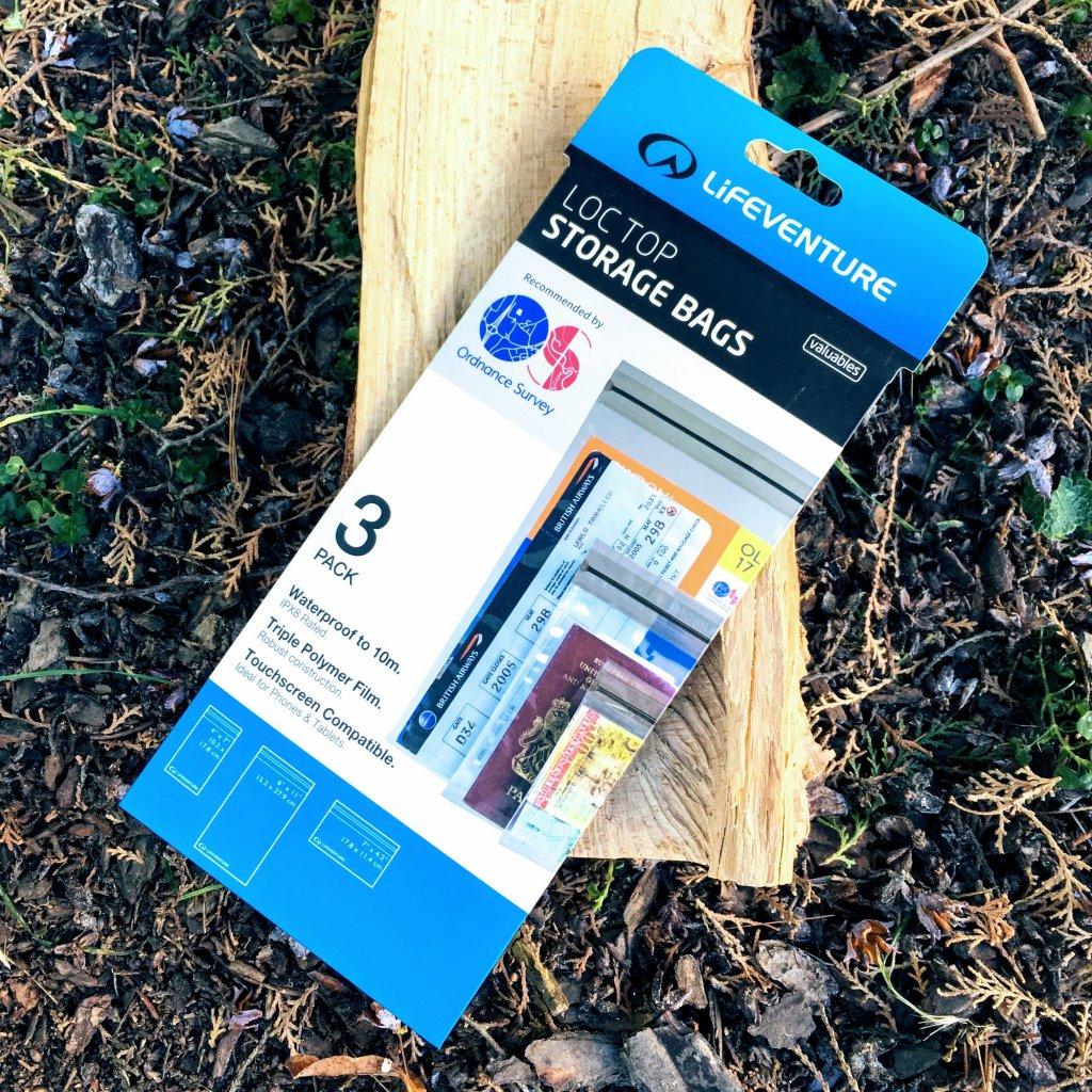 Sada tří nepromokavých pouzder DriStore LocTop Bags (Lifeventure)
