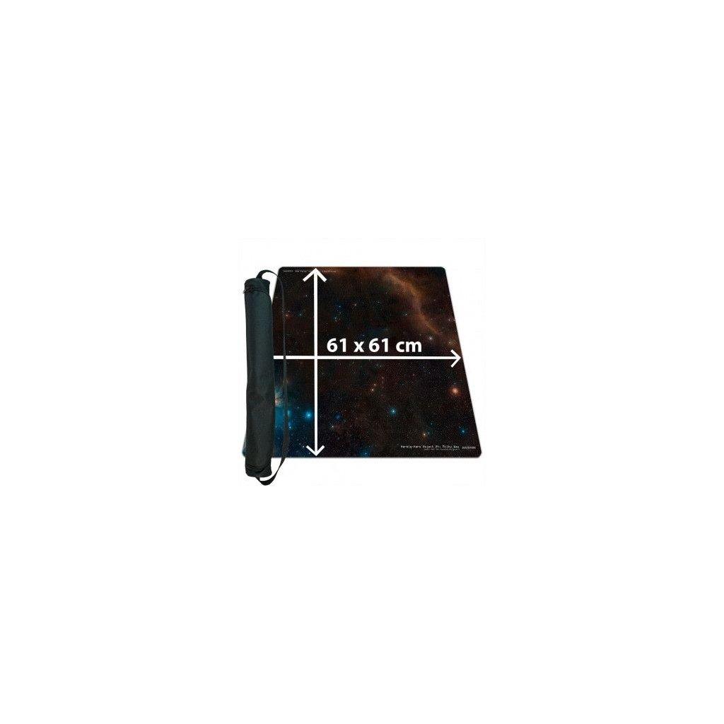 MTG podložka - Playmat Space s taškou (Blackfire)