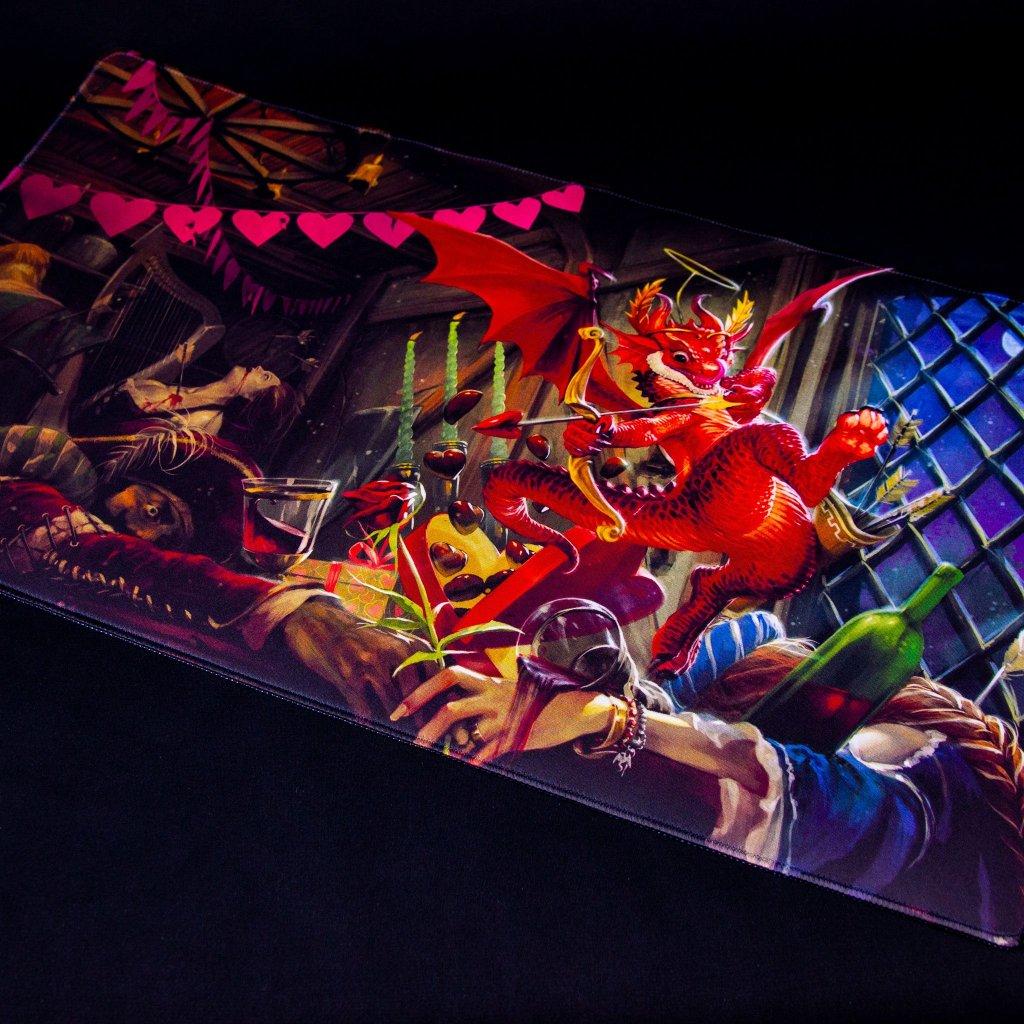 MTG podložka - playmat Valentine 2020 Dragon (Dragon Shield)