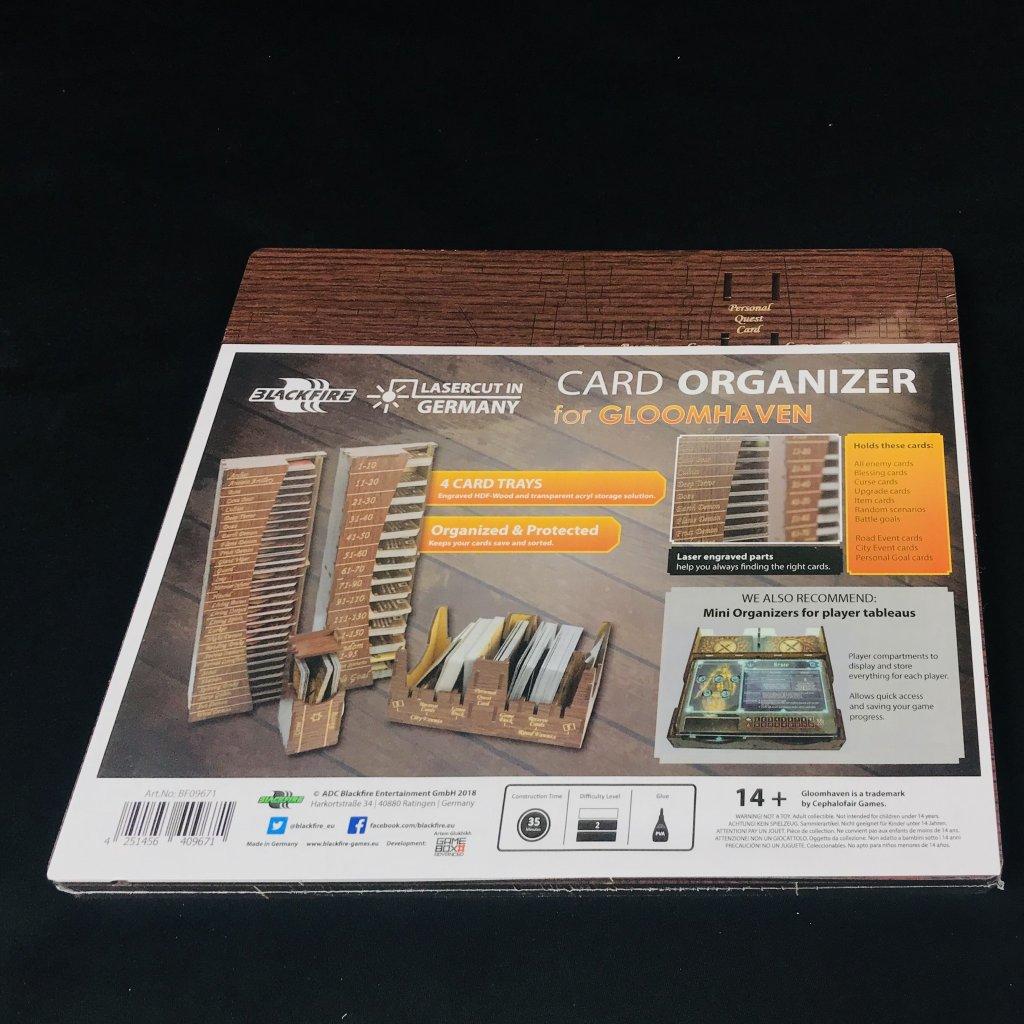 Gloomhaven - card organizer  (Blackfire)