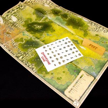 Zapovězené země - mapa a samolepky (Mytago)