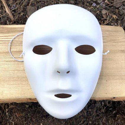 Bílá maska na obličej (BallaBalla)