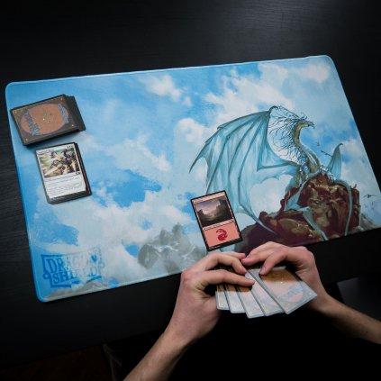 MTG podložka - playmat Caelum Beacon Silver (Dragon Shield)