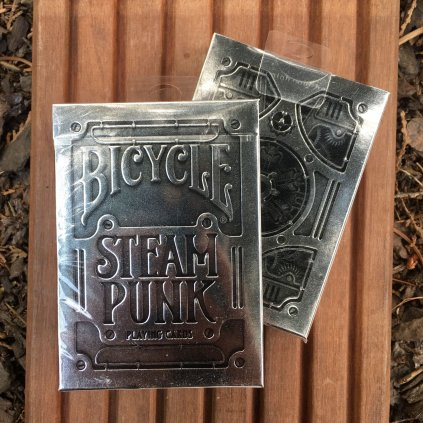 Silver Steam Punk Playing Card Deck (Bicycle)