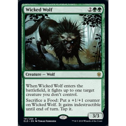 Foil: Wicked Wolf - kusovka (ELD)