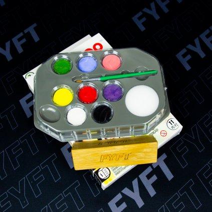 Snazaroo Zelená sada 8 barev na obličej