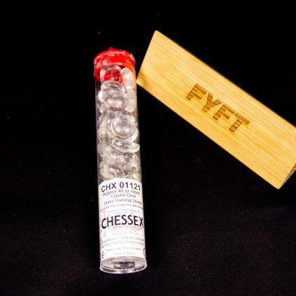 Žetony Gaming Glass Stones - Clear 40ks (Chessex)
