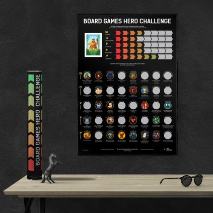 Board Games Hero Challenge - plakát (TopScratch)