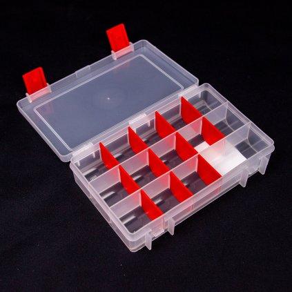 Super Box S - transparentní/červený (LU & KA)