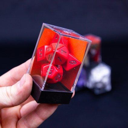 Set 7 RPG kostek: D4, D6, D8, D10, D12, D20, D10% (Chessex)