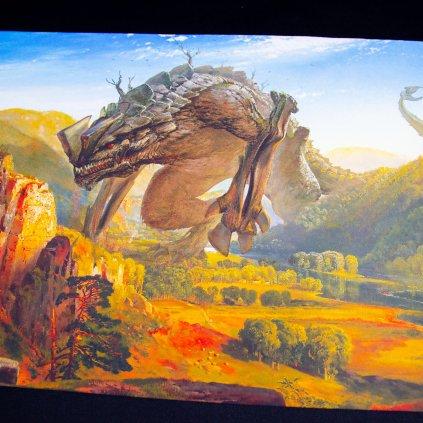 Herní podložka - Playmat: Kaiju Evening 61 x 35 cm (Kraken Wargames)