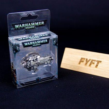 Warhammer 40K klíčenka: Bolter Metallic Finish (Semic)