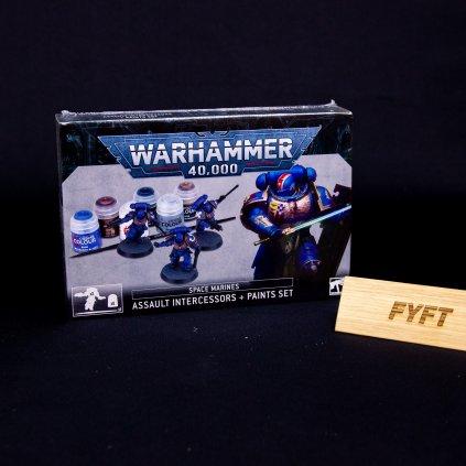Warhammer 40000: Assault Intercessors + Paints Set