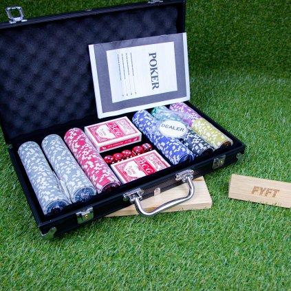 Poker Set - 300 žetonů Black Edition