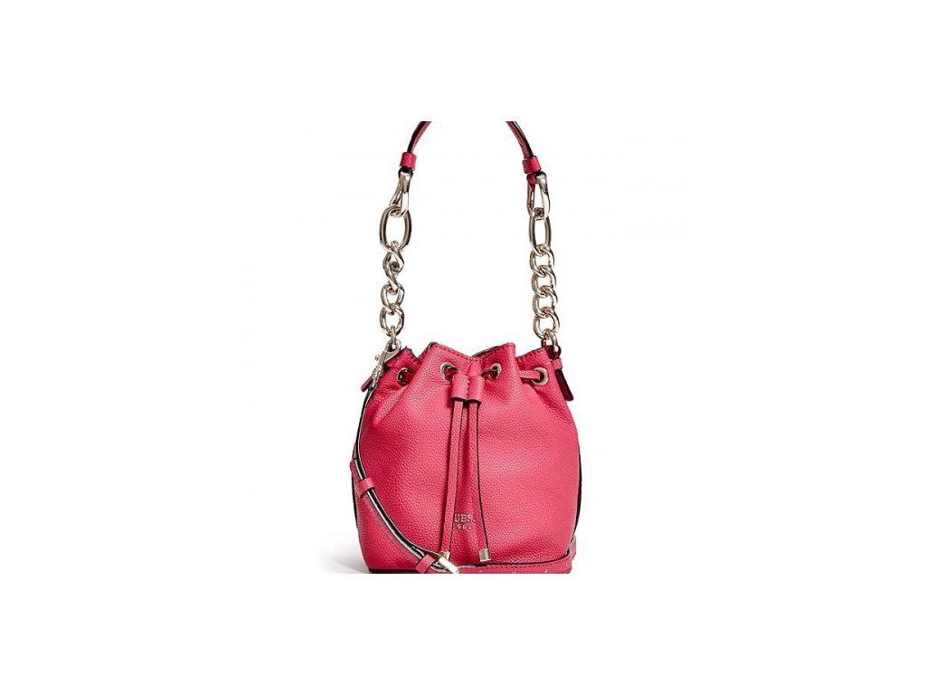 Kabelka Guess Darby Petite Bucket Bag růžová