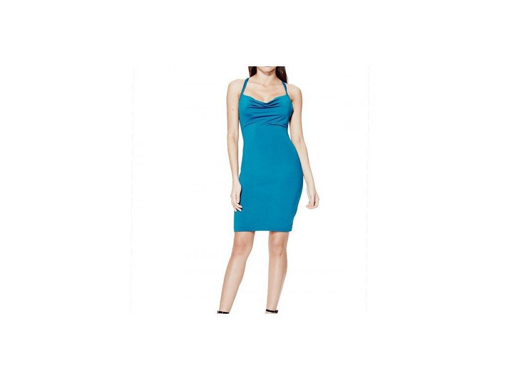 Šaty Guess Lesley Sleeveless Tie-Back Dress modré