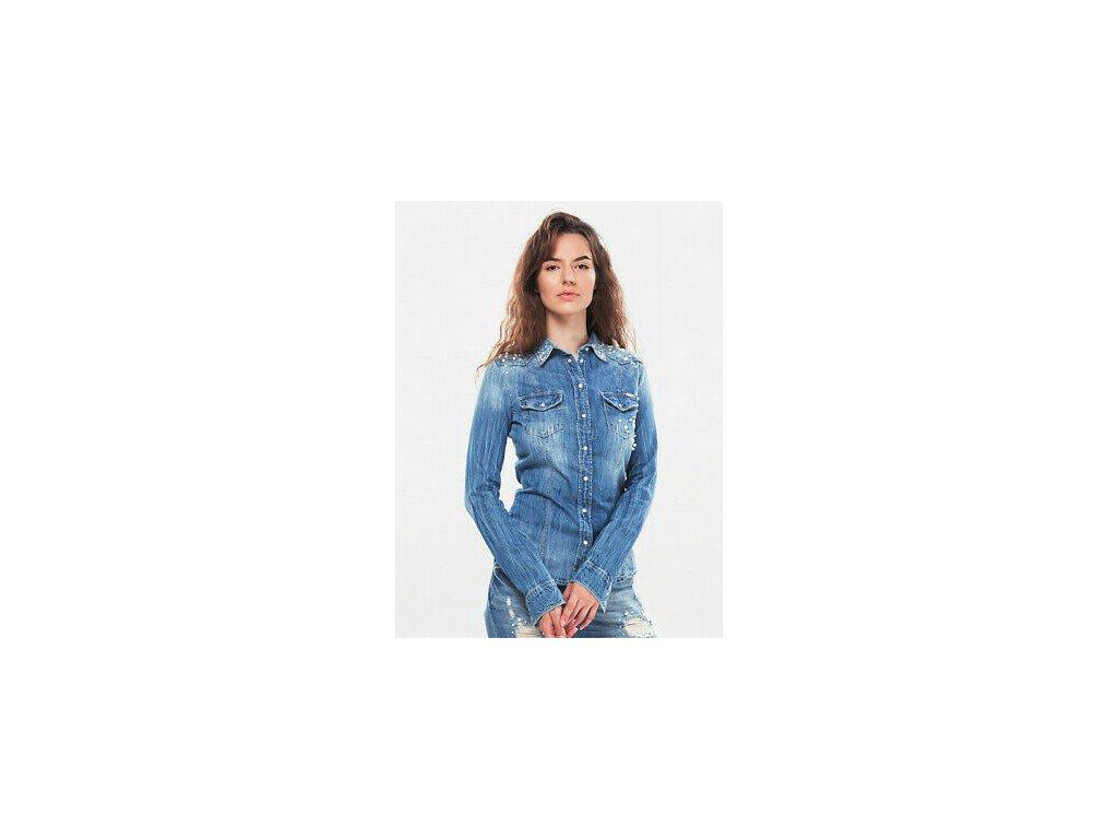 Riflova kosile Guess Lalima Denim Shirt 6
