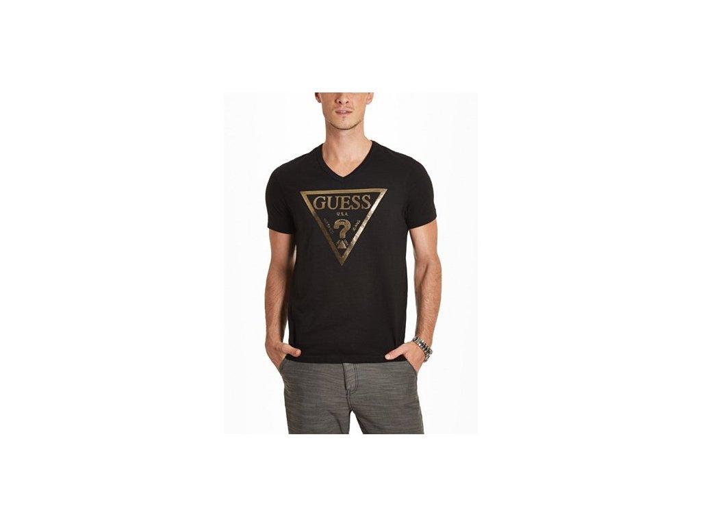 Pánské triko Guess Bordeaux Tee černé