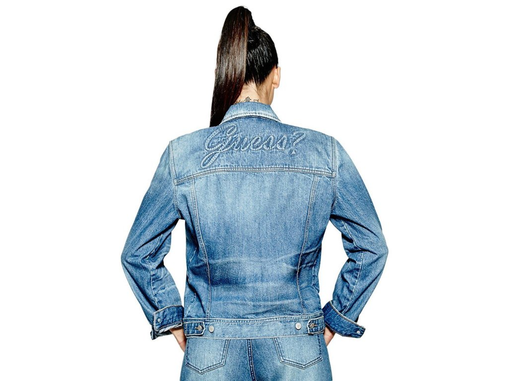 Riflova Bunda Guess Iconic Logo Denim Jacket 1