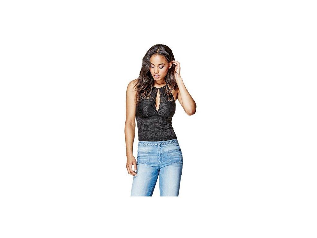 Halenka Guess Jessica Lace Tank černá