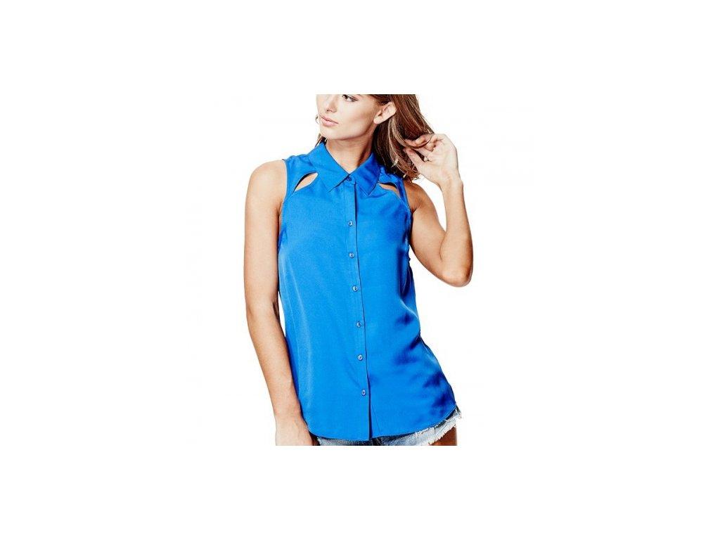 Halenka Guess Sera Cutout Chiffon Shirt